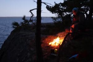 Warming campfire